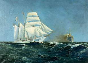 Anton Otto Fischer (NY,German,1882-1962) oil painting
