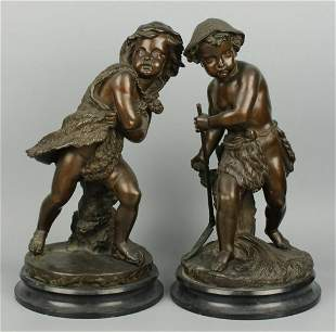 "Eugene Laurent (french,1832-1898) bronzes ""Summer &"