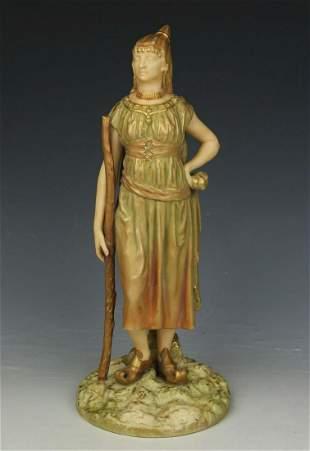 "19C Royal Worcester Hadley figurine 1243 ""Bringaree"