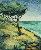 L Kiser (US,20C) oil painting antique