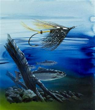 Don Balke (NC,born 1933) watercolor painting