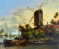 Theo Reijmers (Dutch,20C) oil painting antique