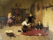 Harry Brooker (UK,1848-1940) oil painting antique