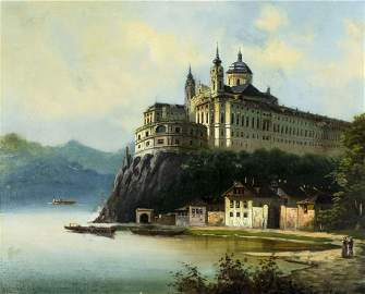Franz Xaver Reinhold (Austria,1816-1893) oil painting