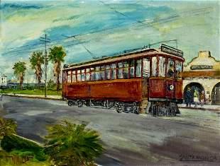 Wilfrid Taylor Mills (CA,NY,1912-1988) oil painting