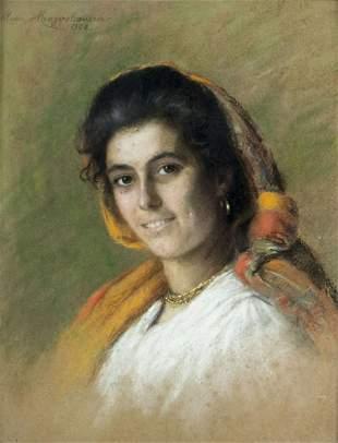 Alice Von Mengershausen (German,1868-1937) pastel