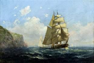 Frederick Pansing (NJ,German,1844-1912) oil painting