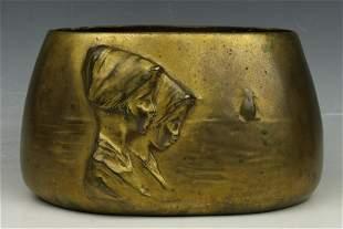Ferdinand Doblinger (Austria,1872-1935) Bronze Vase