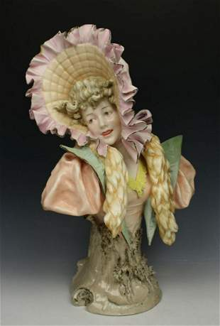 "Antique Ernst Wahliss Figurine 4194 Bust ""Winter"""