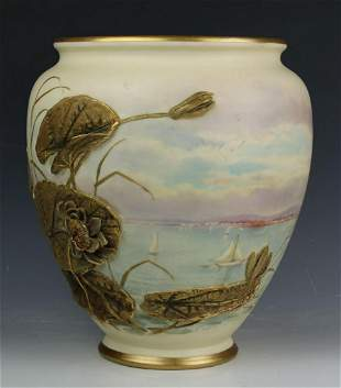 19C Royal Worcester James Bradley Pot Pourri Jar