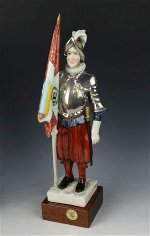 """Capodimonte Guido Cacciapuoti Figurine Soldier """"Lancer"""""""