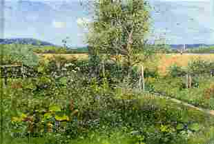 Otto Goebel (German,1865-1903) oil painting antique