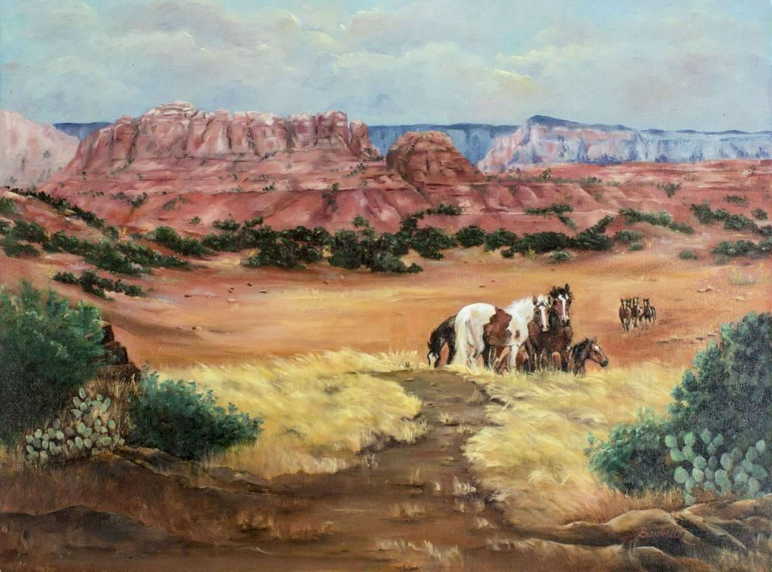Barbetta (US,20C) oil painting antique