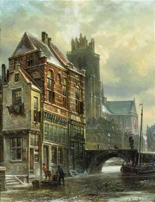 Elias Pieter Bommel (Dutch,Austrian,1819-1890) oil