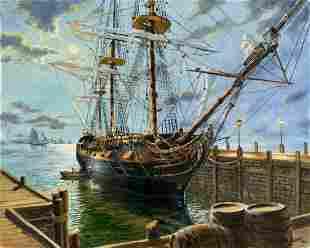 Peter Van Dusen (AZ,NY, b 1929) oil painting