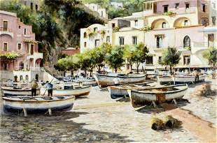 Mario Irace (Italy,20C) oil painting