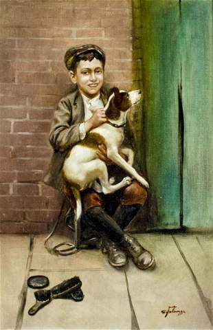 Michele Falanga (Italy,NY,1870-1942) oil painting