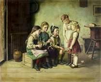 J Hansen (Danish,19/20C) oil painting antique