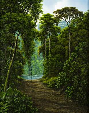 Juan Hernandez (Costa Rica,FL,born 1969) oil on canvas