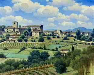 Randy Peyton (TX,Italy,born 1958) oil painting