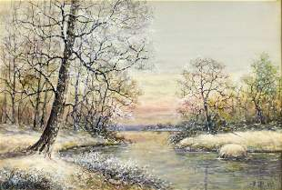 ATTR TO Walter Palmer (New York, 1854-1932) watercolor