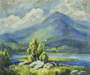 Sara Hess (NY,CA,IL,1875-1960) oil painting