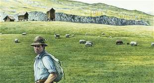 Reynolds Thomas (NY,ME,DE,1927-1991) watercolor