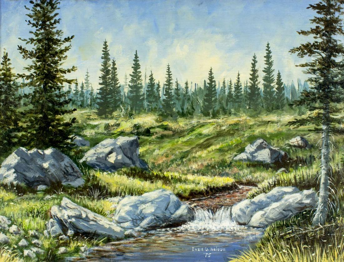 Evan G Nelson (US,20C) oil painting antique