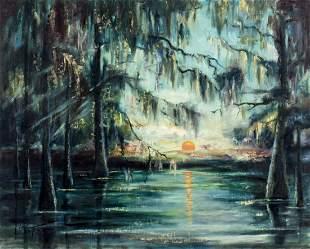 Violet Taylor (TX,CA,mid 20C) oil painting antique