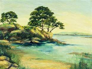 Helen De Tar (CA,OH,1905-1988) oil painting