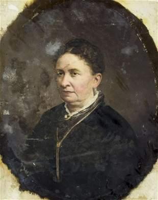 Antique American oil painting Portrait