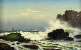 William De Haas (Dutch,ME,1830-1880) oil painting