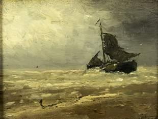 Johann Scherrewitz (dutch,1868-1951) oil painting