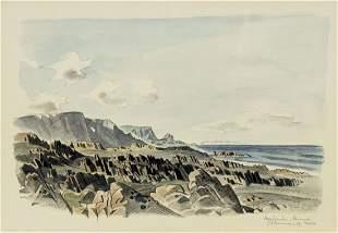 Gunnar Brusewitz (Sweden,1924-2004) watercolor painting