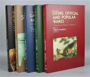 "Art Books ""Survey of Chinese Ceramics"" Porcelain Set of"