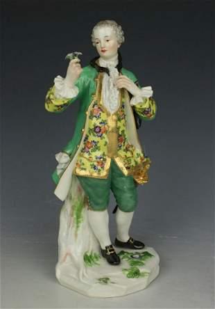 """Meissen figurine A58 """"Man with Flower Bouquet"""""""