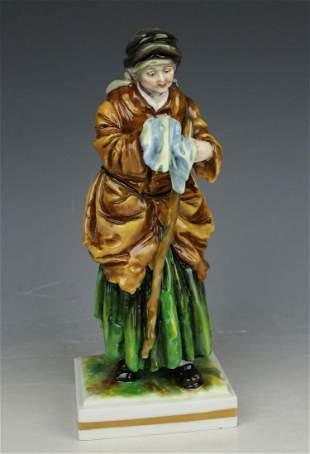 """Rudolstadt Ernst Bohne Sohne Figurine """"Begging Old"""