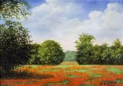 E Eisentraut (TX,mid 20C) oil painting antique