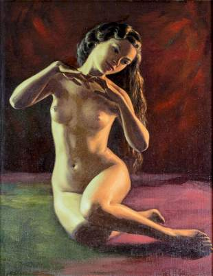 Benjamin Alano (Filipino,1920-1991) oil painting