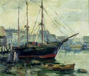 Anthony Thieme (MA,CA,1888-1954) oil painting