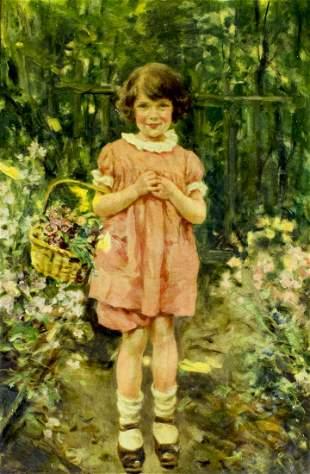 Leon Moran (PA,NJ,1864-1941) oil painting