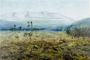 George Edward Lodge (UK,1860-1954) oil painting antique
