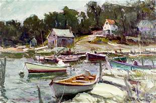 Robert Charles Gruppe (MA,born 1944) oil painting