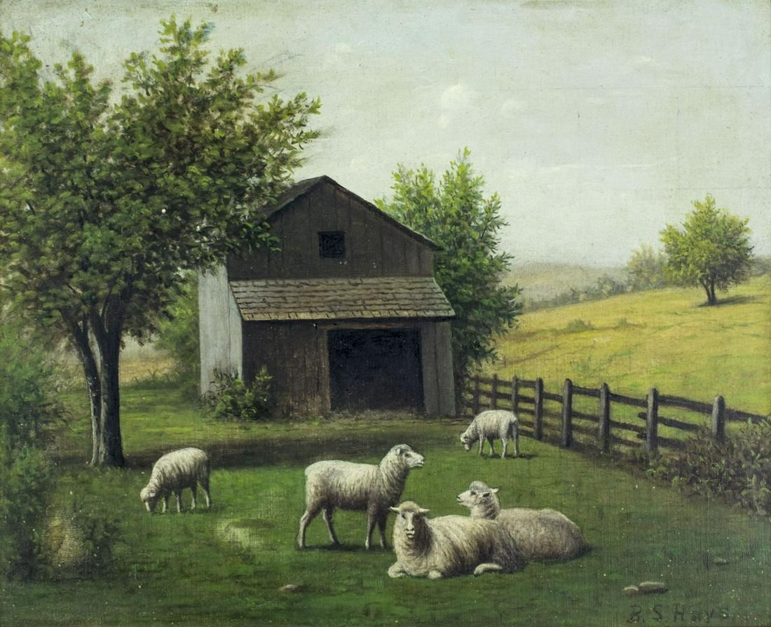 Barton Hays (IN,OH,MN,1826-1914) oil painting antique