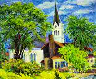 Stanley Bielecky (IN,MI,1903-1985) oil painting