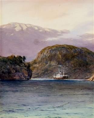 Samuel John Milton Brown (UK,1873-1965) watercolor