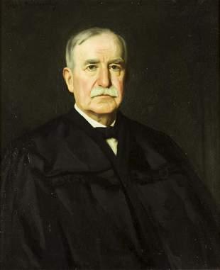 Hugh Breckenridge (PA,MA,1870-1937) oil painting