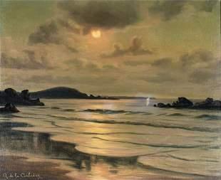 Roger De la Corbiere (France,1893-1974) oil painting