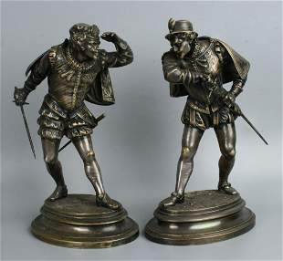 Emile Guillemin (French,1841-1907) Bronze Soldiers Duel
