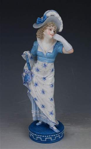 "19C Vion & Baury figurine ""Lady with Purse"""